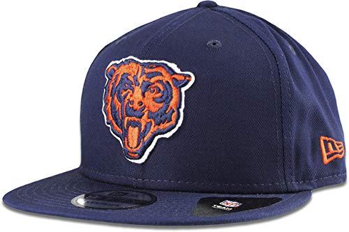New Era Chicago Bears Hat NFL Navy Alternate Logo 9FIFTY Snapback Adjustable Cap Adult One Size (New Bears Hat Chicago Era)
