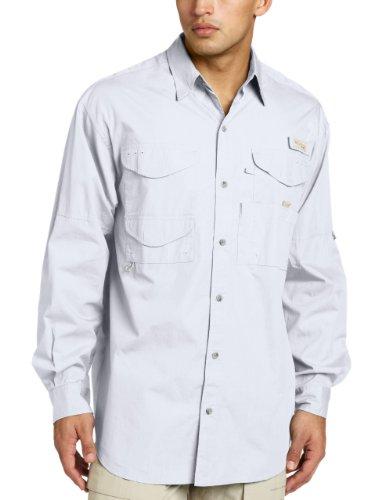 Sleeve Shirt Cotton Long Fishing (Columbia Men's Bonehead Long Sleeve Shirt Big, White, 1X)