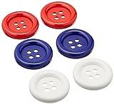 Blumenthal Lansing Favorite Findings Big Basic Buttons, 6/Pkg, Red/White/Blue