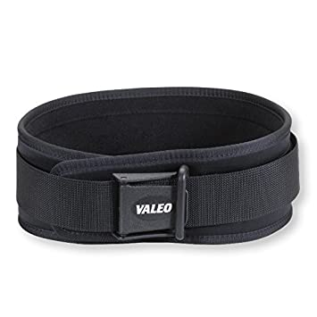 Valeo VCL6 6 Padded Weightlifting Lifting Belt with Brushed Tricot Lining and Cam Buckle