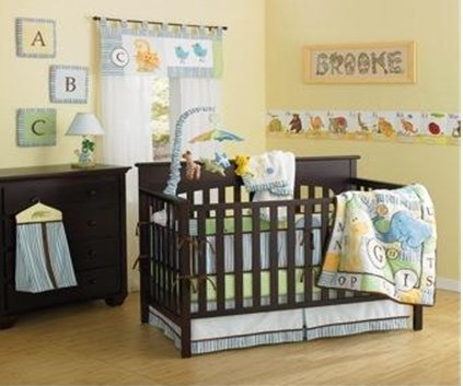 ABC Animal Friends 10 Piece Crib Bedding