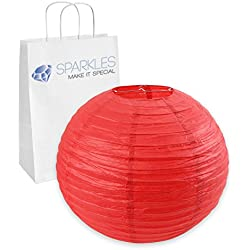 "Sparkles Make It Special 75-pcs 16"" inch Chinese Paper Lantern - Red - Wedding Party Event Decoration - 13 Colors and 8 Sizes Available"
