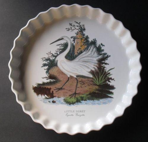 Portmeirion England Birds Of Britain Little Egret 11 inch Flan Dish
