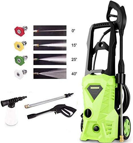 Homdox Pressure Washer, Power Washer with 2600 PSI,1.6GPM, 4 Nozzle Adapter, Longer Cables and Hoses and Detergent Tank,for Cleaning Cars, Houses Driveways, Patios Green