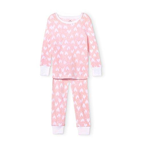 aden + anais Pajama Set, 2 Piece, 100% Cotton Sleepwear, Hearts, Size 12M
