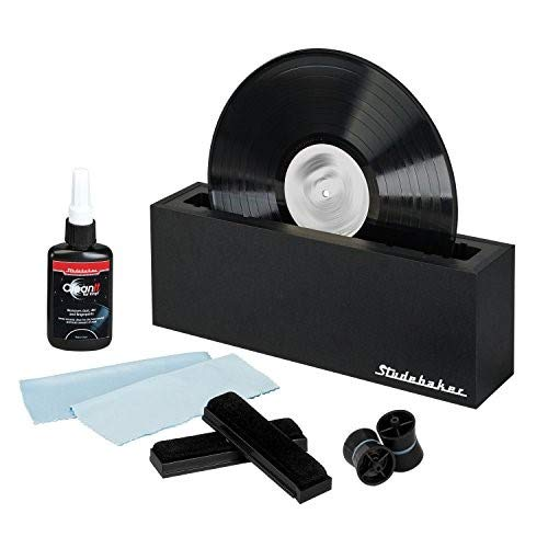 Studebaker Vinyl Record Cleaning System with Cleaning Solution and Soft Pads Included