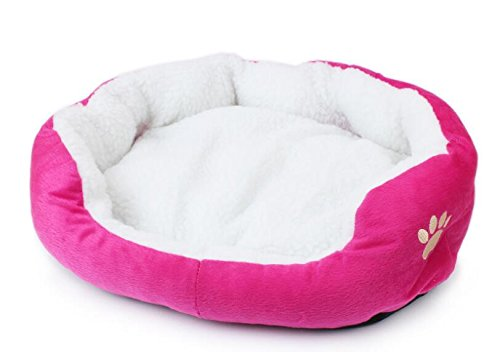 Happy- Happy- Happy- little -bear Warm Soft Fleece Pet Dog Cat Bed House con Tappetino Soft Mat (Large, rosa Red) 1d4bb6