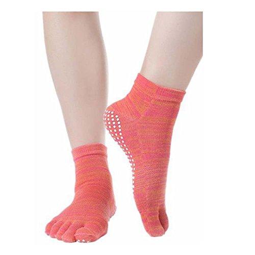 レディース 五本指 滑り止め付き ピラティスソックス 抗菌消臭靴下 グロング ヨガ ソックス 靴下 5本指 指なし 2足セット ヨガソックス