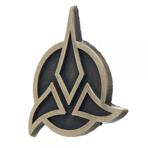 Star Trek Klingon Insignia Lightweight Bronze Color Metal Costume Lapel Pin Licensed