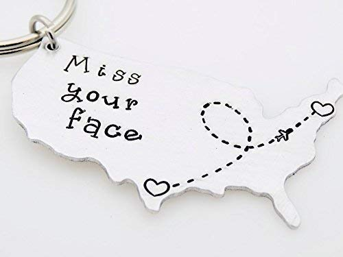 Amazoncom Us State Map Long Distance Gift Moving Away Gift