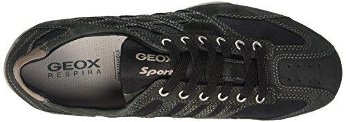 Geox Uomo Snake D, Sandalias con Plataforma para Hombre negro