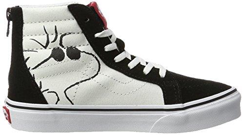 Vans Peanuts Sk8-Hi Zip, Zapatillas de Entrenamiento Unisex Niños Negro (Joe Cool/black Peanuts)