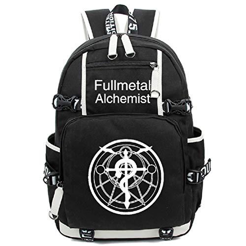 YOYOSHome Fullmetal Alchemist Anime Cosplay Luminous Rucksack Daypack Laptop Bag Backpack School Bag - Bag Alchemist Messenger Full Metal