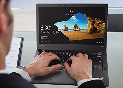 "Lenovo Thinkpad T470 Business Laptop - 20JM000CUS (14"" HD Dipslay, Intel Core i5-6200U 2.30GHz, 4GB DDR4 RAM, 500GB 7200rpm HDD, Fingerprint Reader, Windows 7/10 Pro 64) by Lenovo (Image #3)"