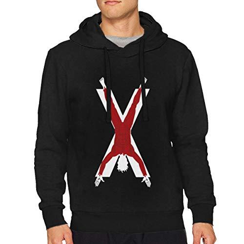 Sbbiegen886wo Men Particular Game of Thrones House Bolton of The Dreadfort Funny Hoodies Hooded Sweatshirt XL Black -