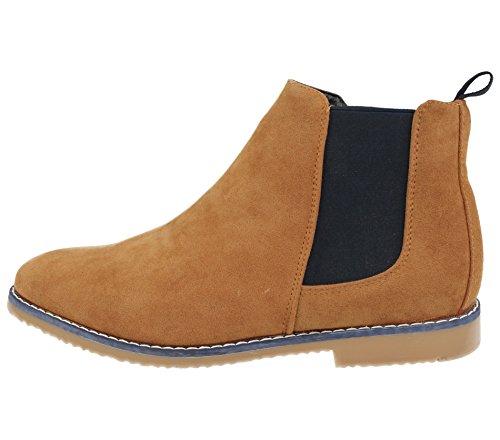 Foster Footwear , Bottes Chelsea garçon mixte adulte homme femme Tan/Navy
