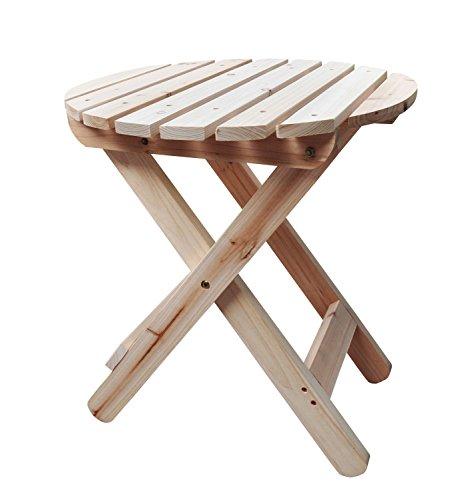 Shine Company Adirondack Round Folding Table, Natural