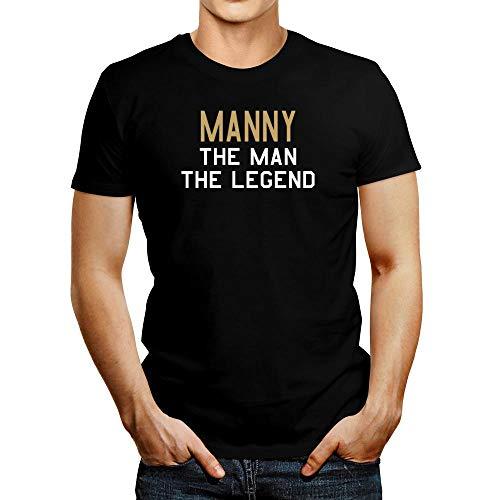 Idakoos Manny The Man The Legend T-Shirt L Black (T-shirt Manny Legend)