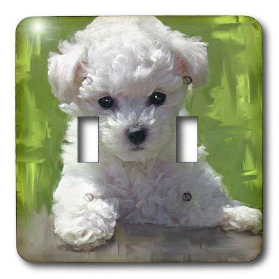 3d Rose 3dRose LLC lsp_5323_2 Bichon Frise Puppy, Double ...