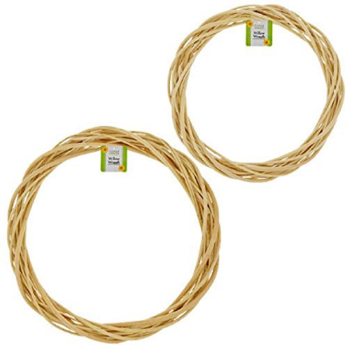 Natural Willow Wreaths Pack of 2 (Wreath 18 Vine)