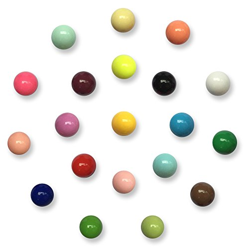 20 Pack Fridge Magnets Spherical Muliticolor Refrigerator Office Magnets for Calendars Whiteboards Maps Resin Fun Decorative Decoration by Toomoon