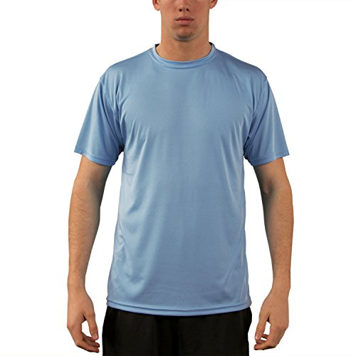 Vapor Apparel Men's UPF 50+ UV Sun Protection Performance Short Sleeve T-Shirt Medium Columbia Blue