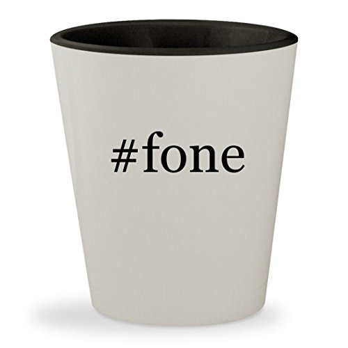Price comparison product image #fone - Hashtag White Outer & Black Inner Ceramic 1.5oz Shot Glass