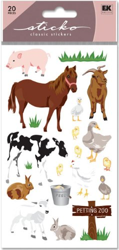 Sticko Classic Stickers, Petting Zoo ()