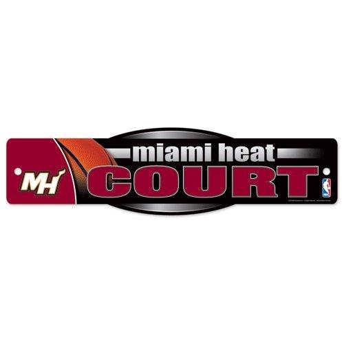 (WinCraft NBA Miami Heat 06561010 Street/Zone Sign, 4.5