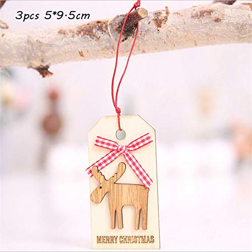 VADOLY 3Pcs Christmas Ribbon Pull Bows Xmas Tree Hanging Ornament Red Bowknot Gold Bell Christmas Decoration for Home