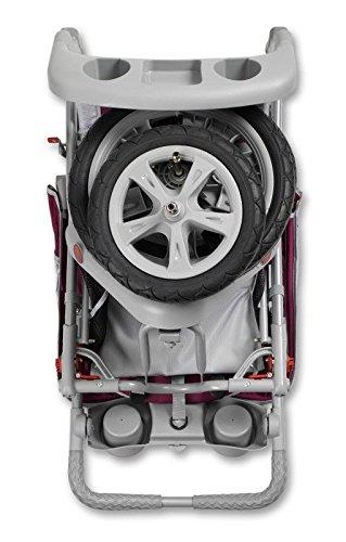 Brand New For Baby InStep Safari Single Swivel Wheel Baby Jogging Stroller - Wine/Grey | AR191