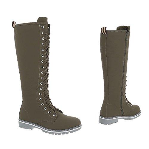 Ital Nc132 Chaussures Kaki design Plat Femme Mode High Espadrilles Sneakers  Baskets Bqw0x1vqH 97e047a2035