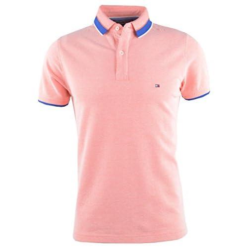 8a40792eafc 50% de descuento Tommy Hilfiger Hombres Slim Fit Camisa Polo de Algodón  Oxford Coral