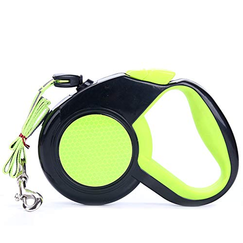 Green Small Green Small Nylon Dog Leashes Dog Lead Retractable 3sizes Extendable Dog Pet Leads Leash for Small Medium Dog Durable Pet Cord Leash (color   Green, Size   S)