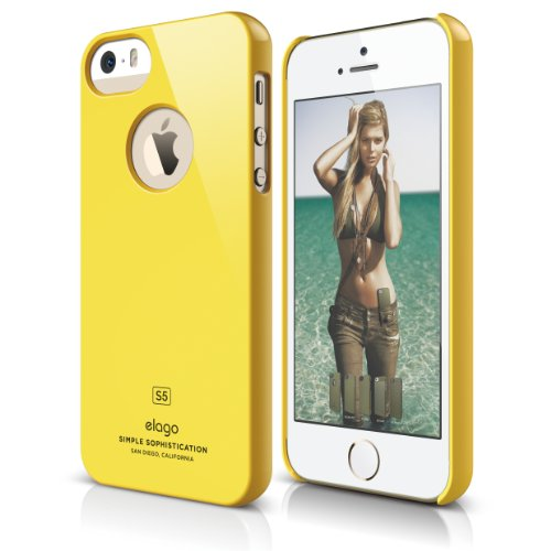 iPhone SE case, elago [Slim Fit][Sport Yellow] - [Light][Minimalistic][True Fit] - for iPhone SE/5/5S