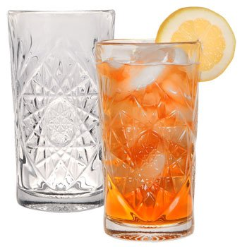 THE Boutique Famous-maker Stunning Cut-glass Star Burst Design Coolers Tumblers, 16 Oz.
