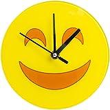 Happy Emoji Glass 7 IN Clock