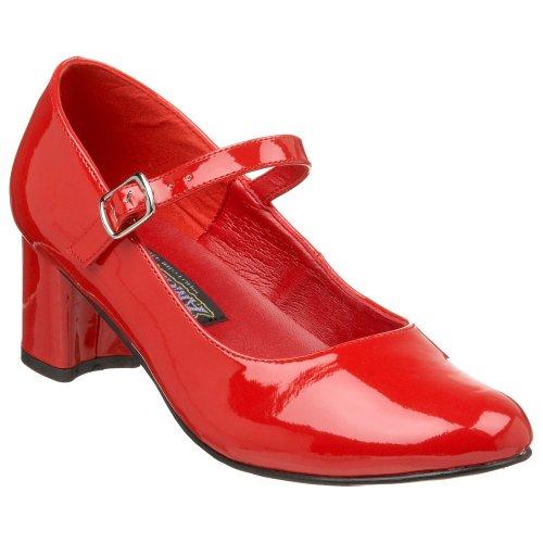 Schulmädchen-Schuhe - Schoolgirl-50 - Lack rot Gr. 41
