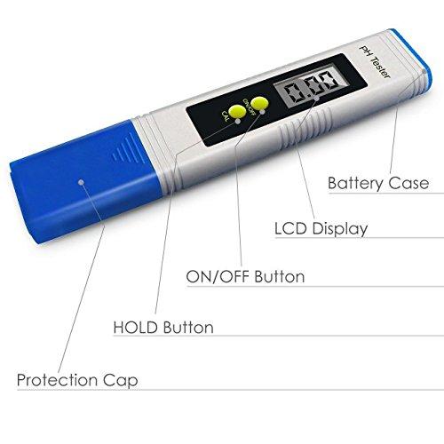 Digital Ph Meter Resolution Pocket Size Water