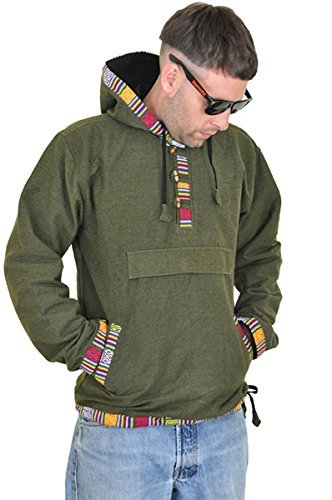 virblatt Mens Baja Hoodie and Hippie Sweater Baja Jacket Men Hoodie Sweaters Men as Festival Clothing - Sphärenhaft gnm