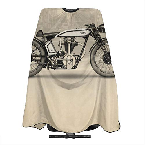 Lightweight Water Stain Resistant Motorcycles Haircut Apron Salon Shawl 55 X 66 In