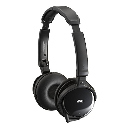 JVC Noise Cancelling Foldable Headphones for iPod / iPhone / MP3 Devices - Black