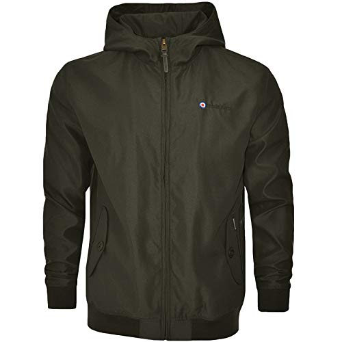 Lambretta Hooded Shower Resistant Harrington Jacket - Khaki - M