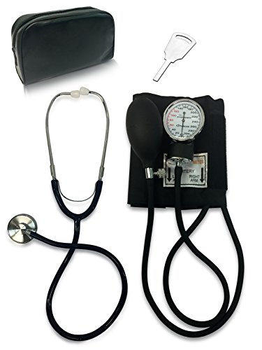 Primacare DS-9197-BK Manual Professional Blood Pressure Kit, Black with Stethoscope ()