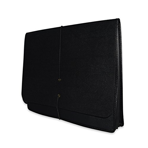 Case-Guard Poly Expanding Wallet/Portfolio, Black, Legal Size 10'' x 15'' with 5 1/4'' Expansion and Elastic Cord Closure, 25 per Carton by ALL-STATE LEGAL