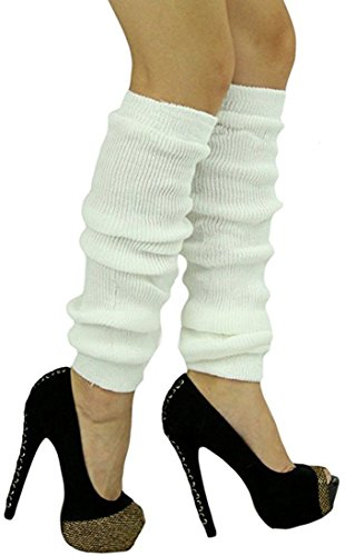 ToBeInStyle Women's Long Thigh Hi Separated Leg Warmers - One Size - -