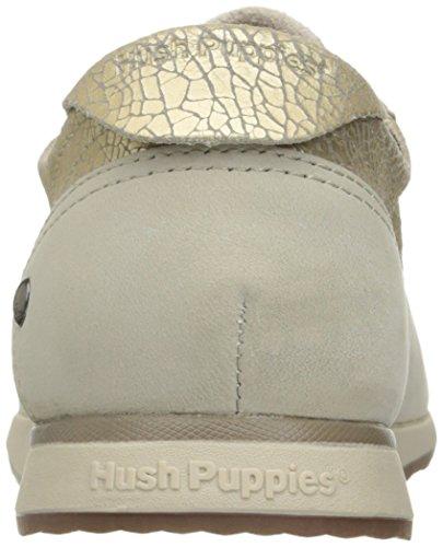 Hush Puppies Womens Chazy Dayo Plat Licht Goud Leer