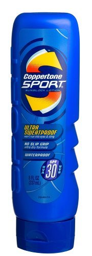 Coppertone Sport Sunscreen Lotion, SPF 30, Ultra Sweat-Proof, 8-Ounces. (Pack of 2)