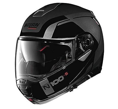 Amazon.com: Nolan N100-5 - Casco de motocicleta, color gris ...