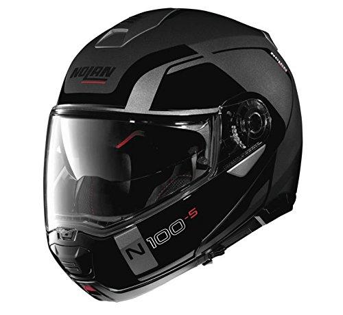 (Nolan N100-5 Motorcycle Helmet Consistency Flat Grey 2XLarge)